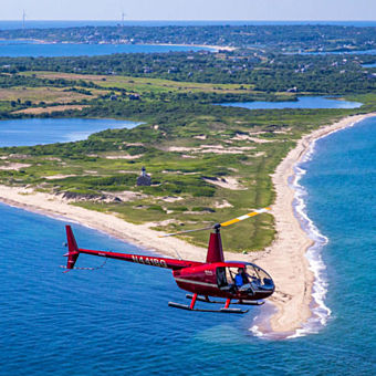 Cross the Block Island Sound in a Helicopter