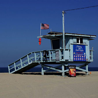 Lifeguard Stand during Los Angeles Photo Tour