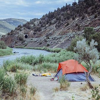 Riverside Camping in Colorado