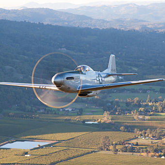 Scenic Flight in Restored Warbird, the P51 Mustang