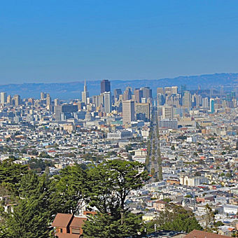 View of San Francisco From a hike