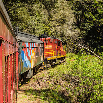 Travel Back in Time in a Historic Train Car