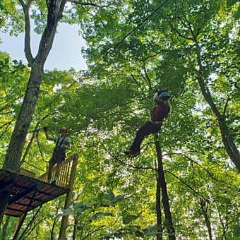 Zipline in Southern Indiana