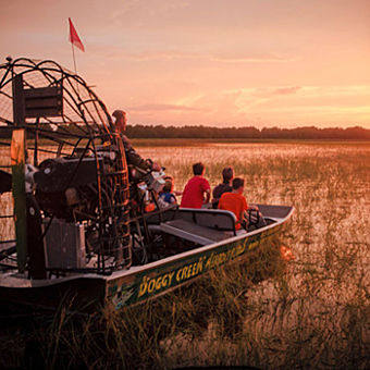 Sunset Airboat Tour near Orlando