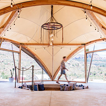 Inside Lobby Tent near Zion National Park