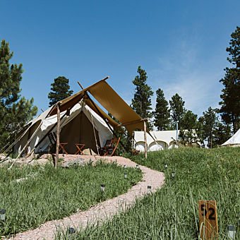 Safari Tent Camping near Mount Rushmore