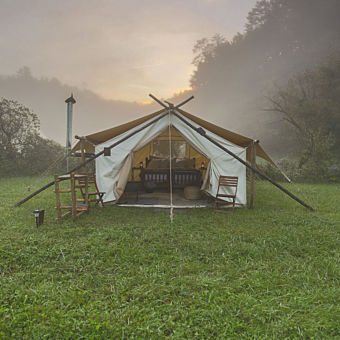 Safari Tent Camping near Great Smokey Mountains National Park