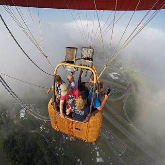 Views from Hot Air Balloon during Private Ride