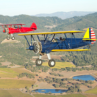 Scenic Biplane Experience over Sonoma Valley