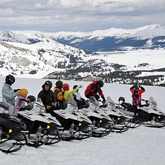 Guided Snowmobile Tour near Denver