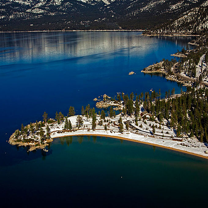 Aerial Tour of Lake Tahoe's Sand Harbor