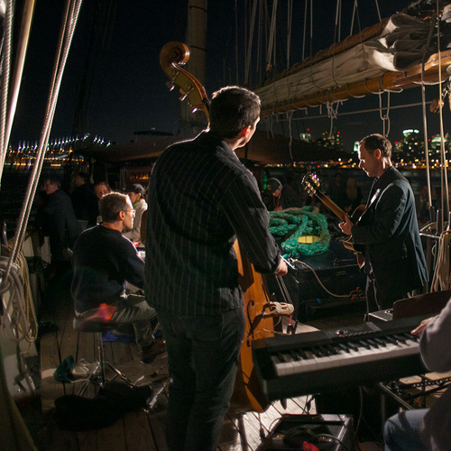 Jazz Band with NYC Skyline