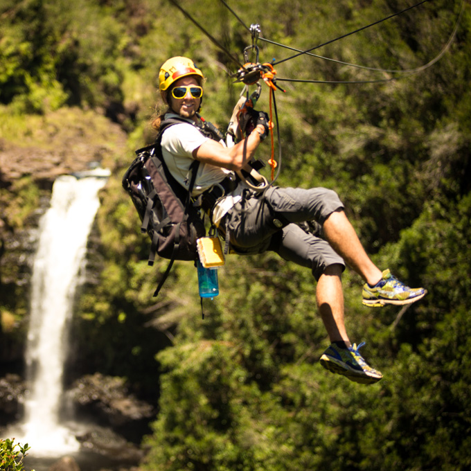 Zipline over Waterfalls