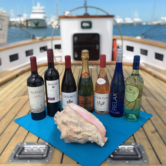 Wine and Champagne on Key West Cruise