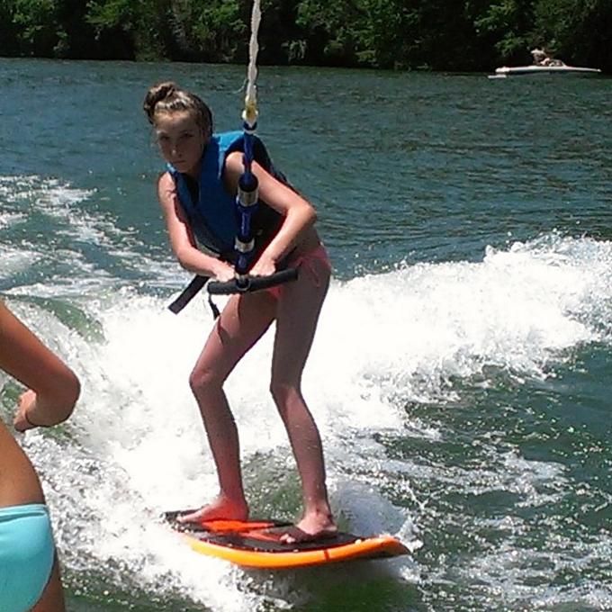 Wakeboarding on Lake Austin, TX