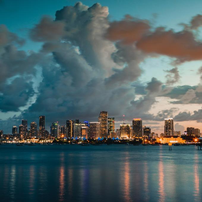 Romantic Flight Over Miami