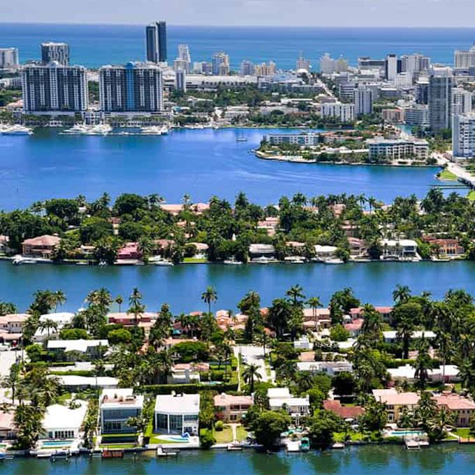 Fly Over Miami Beach
