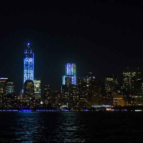 Manhattan Skyline on Jazz Cruise