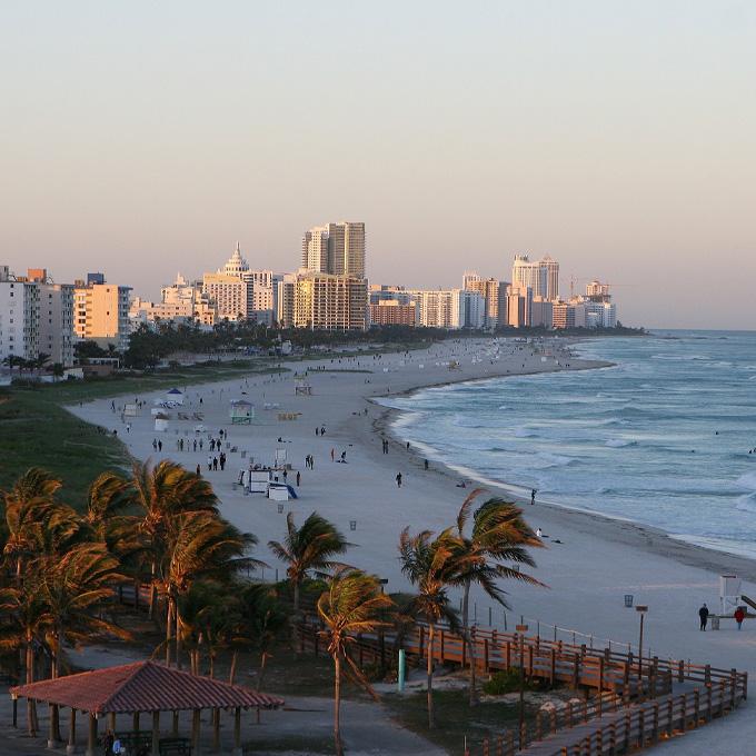Sunset Tour Over Miami