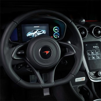 Steering Wheel during McLaren 570S Driving Experience