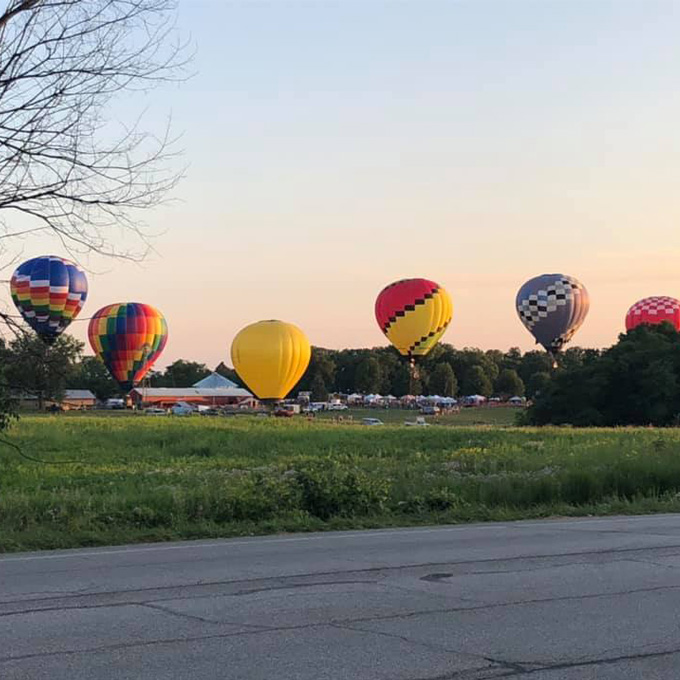 Romantic Hot Air Balloon Ride in Hamilton County, IN