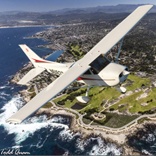 Cessna 172 over Monterey Peninsula