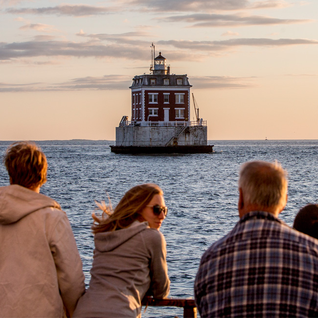 Taking in the Views during Mystic Whaler Cruise