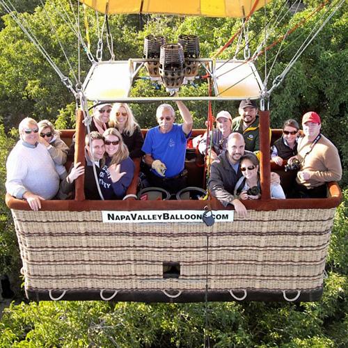 In-Flight Photo on Napa Valley Balloon Ride