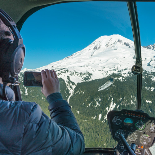 Helicopter Flight to Mt. Rainier
