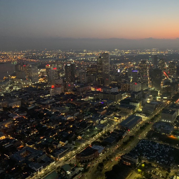 Views of New Orleans during Introductory Flight Lesson