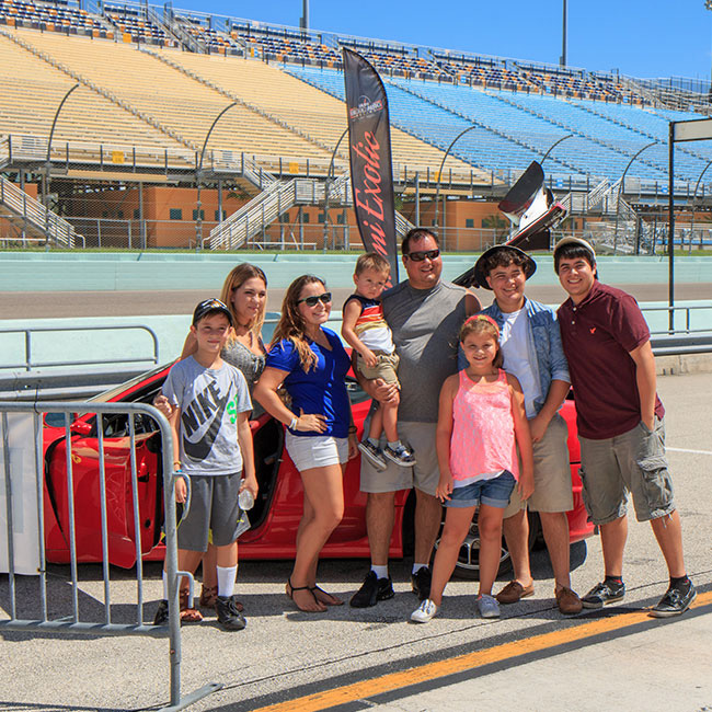 Family Picture after Racing Experience in Miami