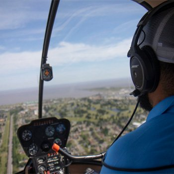 Flying through New Orleans during Romantic Helicopter Tour