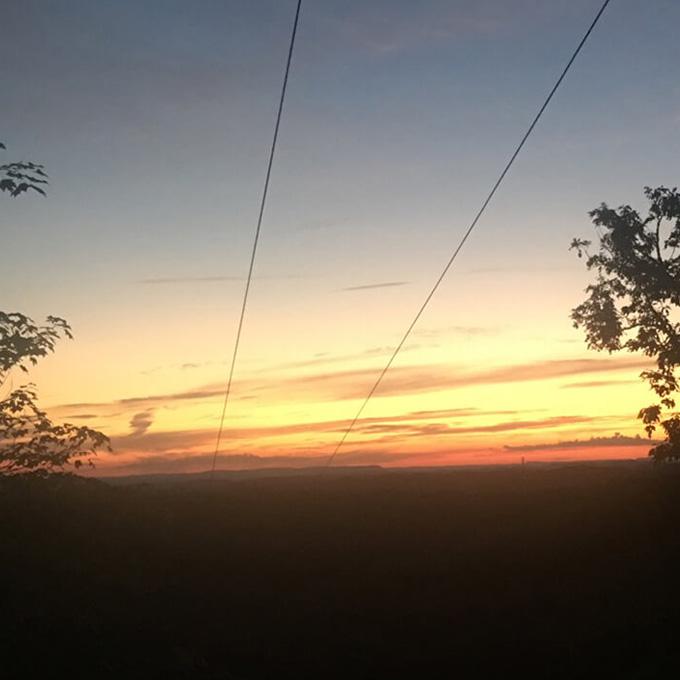 Zipping through the Sunset
