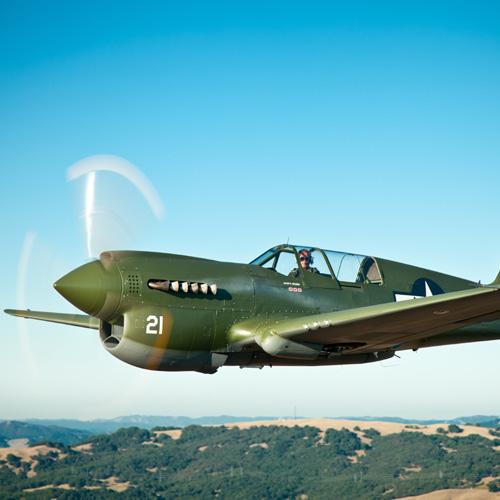 Scenic Flight In A Restored P40 Warhawk