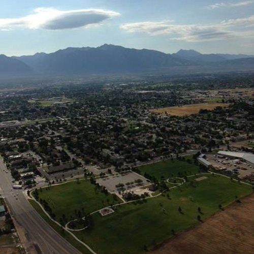 View of Salt Lake & Mountains