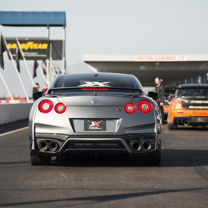 Race a Nissan GTR at Raceway Park