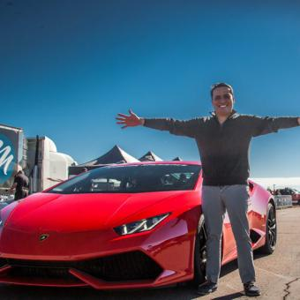 Drive a Lamborghini during Dallas Racing Experience