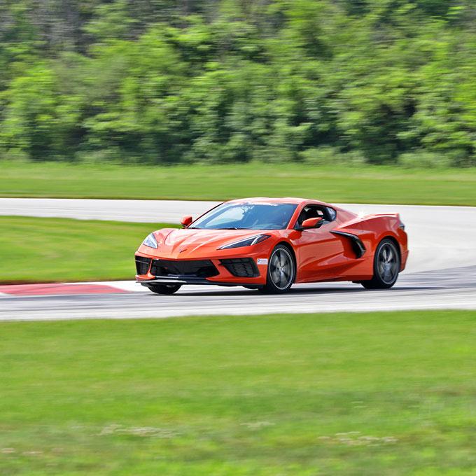 Race a Chevy C8 Corvette at Putnam Park Road Course