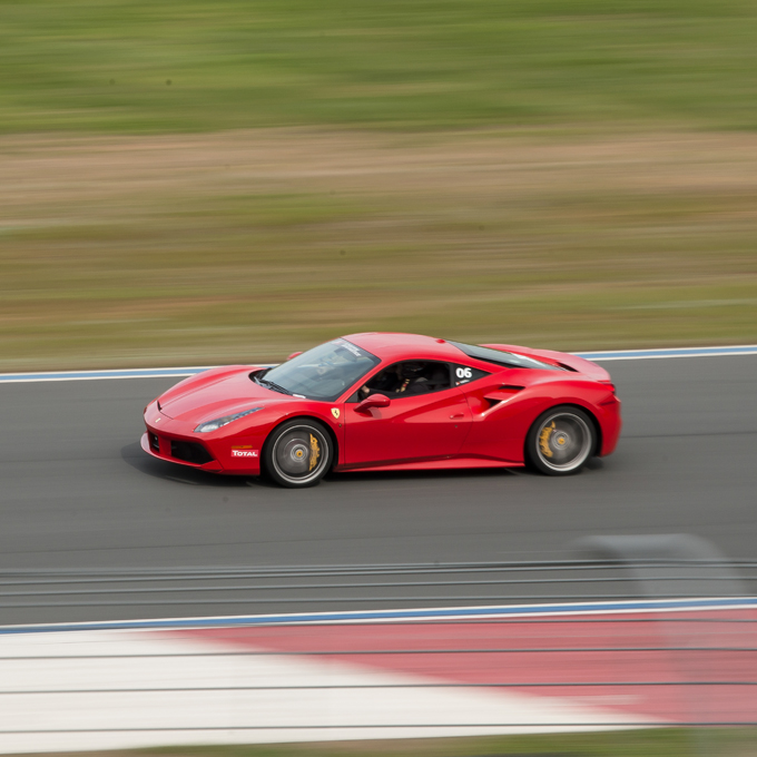 Race a Ferrari 488 GTB at M1 Concourse Race Track