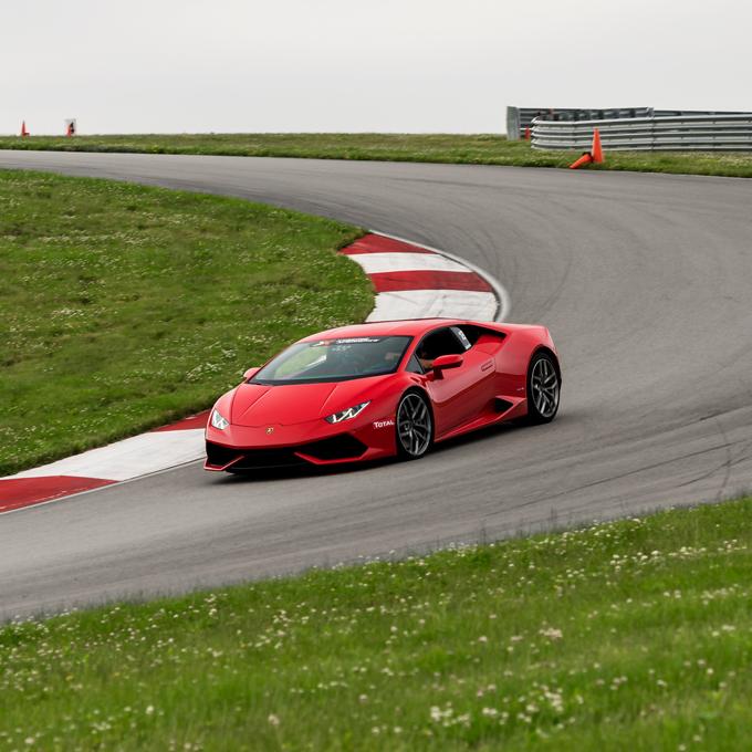 Lamborghini during Ultimate Exotic Racing Experience