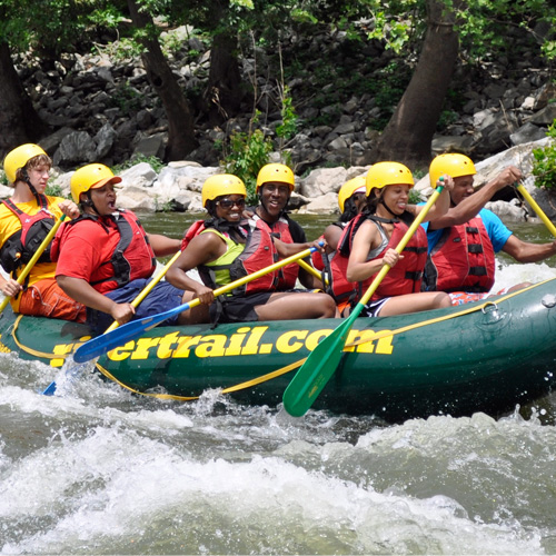 Whitewater Rafting through the Blue Ridge Mountains