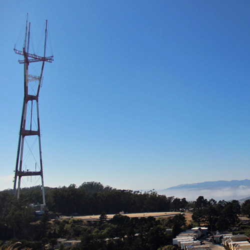 View of Sutro Tower on an Urban Hike
