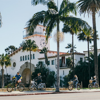 Group during Electric Bike Tour in Santa Barbara