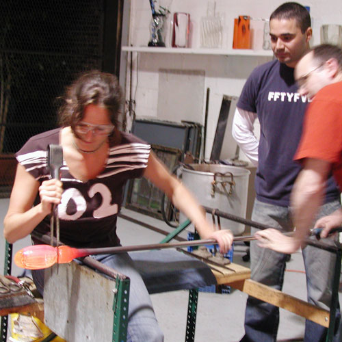 Glass Blowing Lesson in New York