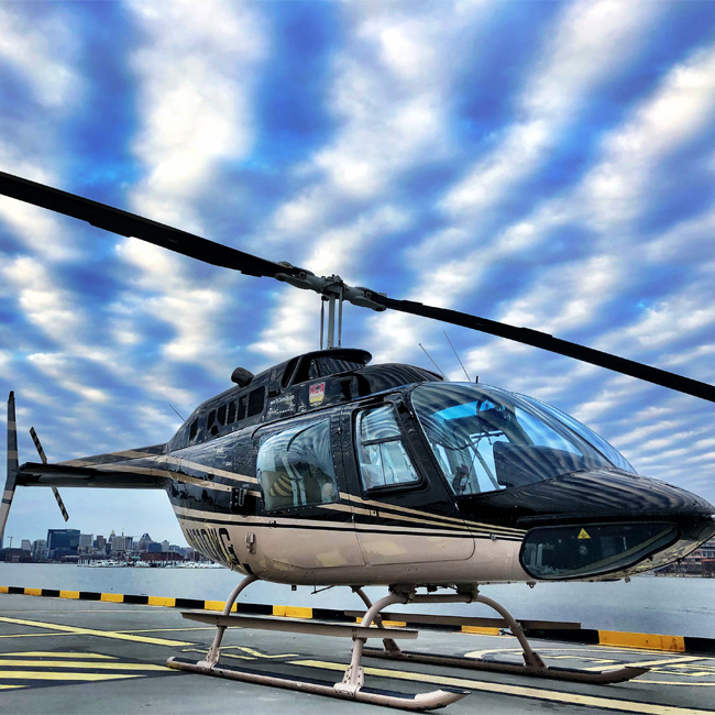 Bell 206 Helicopter in Baltimore