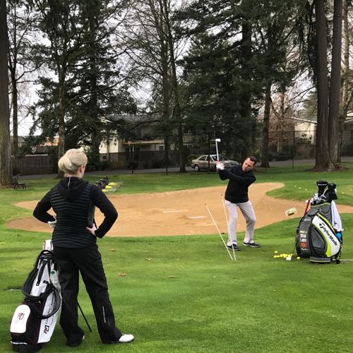 Instructions from PGA Class A Professional