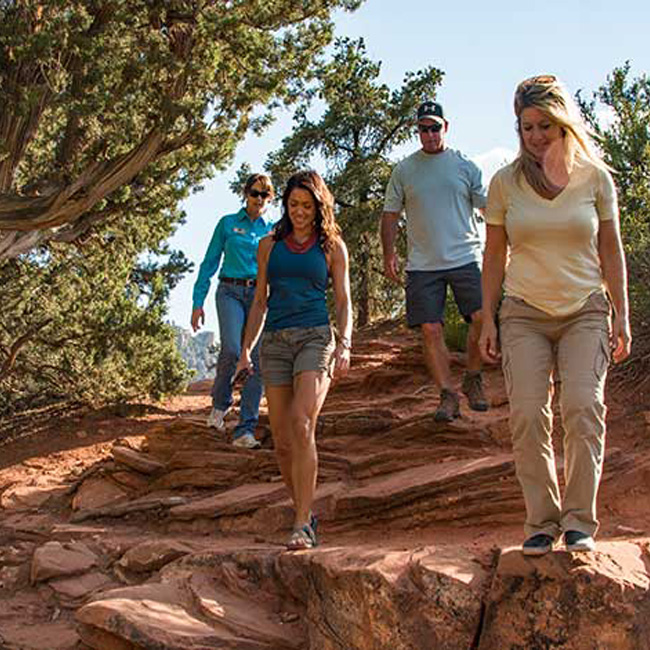 Group Hike on Tour in Sedona