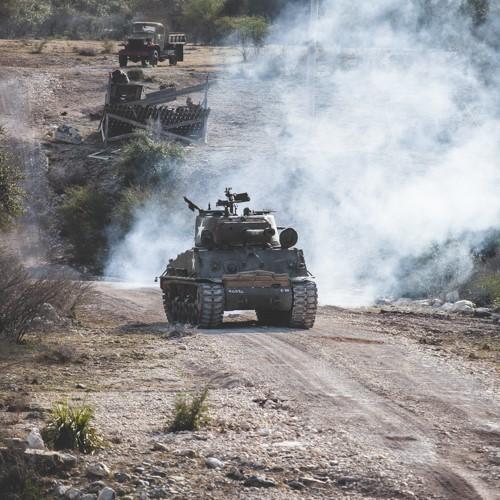 Sherman Tank Ride near San Antonio