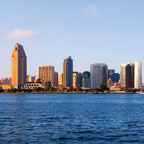 View of City Skyline from San Diego Bay Cruise