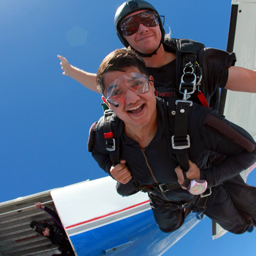 Free Fall during Tandem Skydive Experience